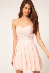 Tfnc Tfnc Dress with Sequin Bandeau & Chiffon Skirt in Pink (nudenude) - Lyst