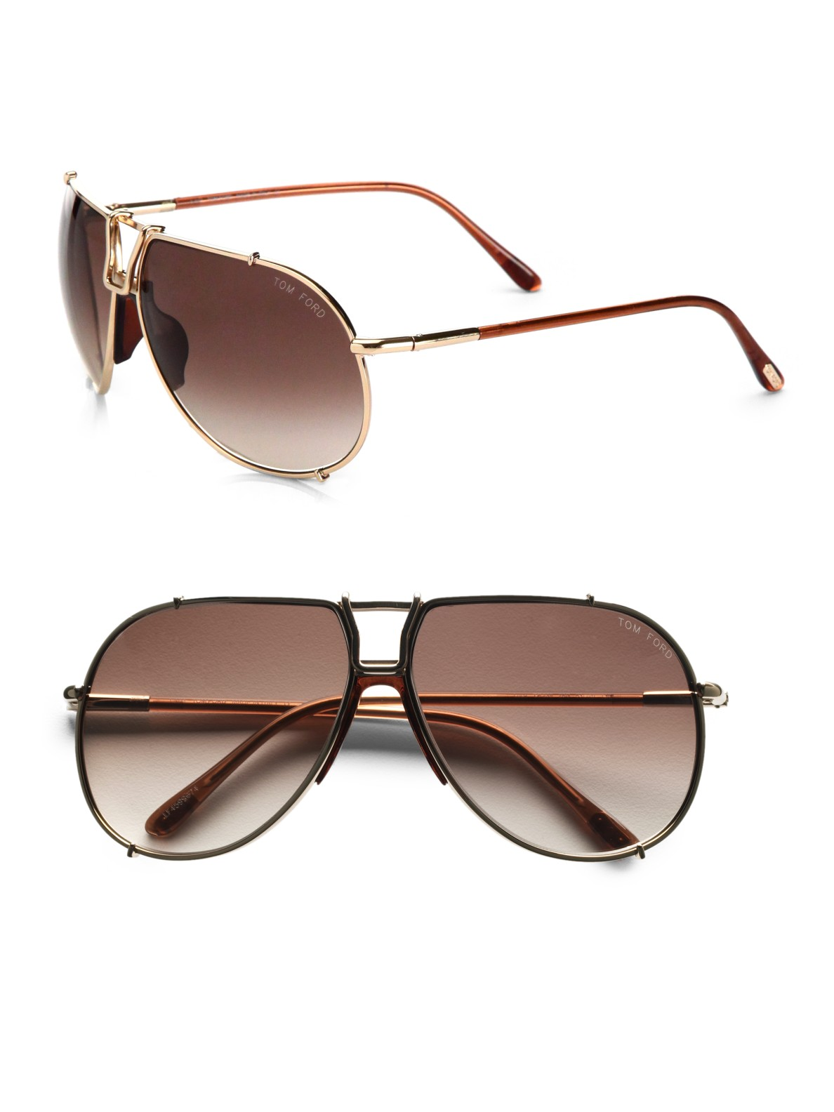 tom ford metal aviator sunglasses in brown for men lyst. Black Bedroom Furniture Sets. Home Design Ideas