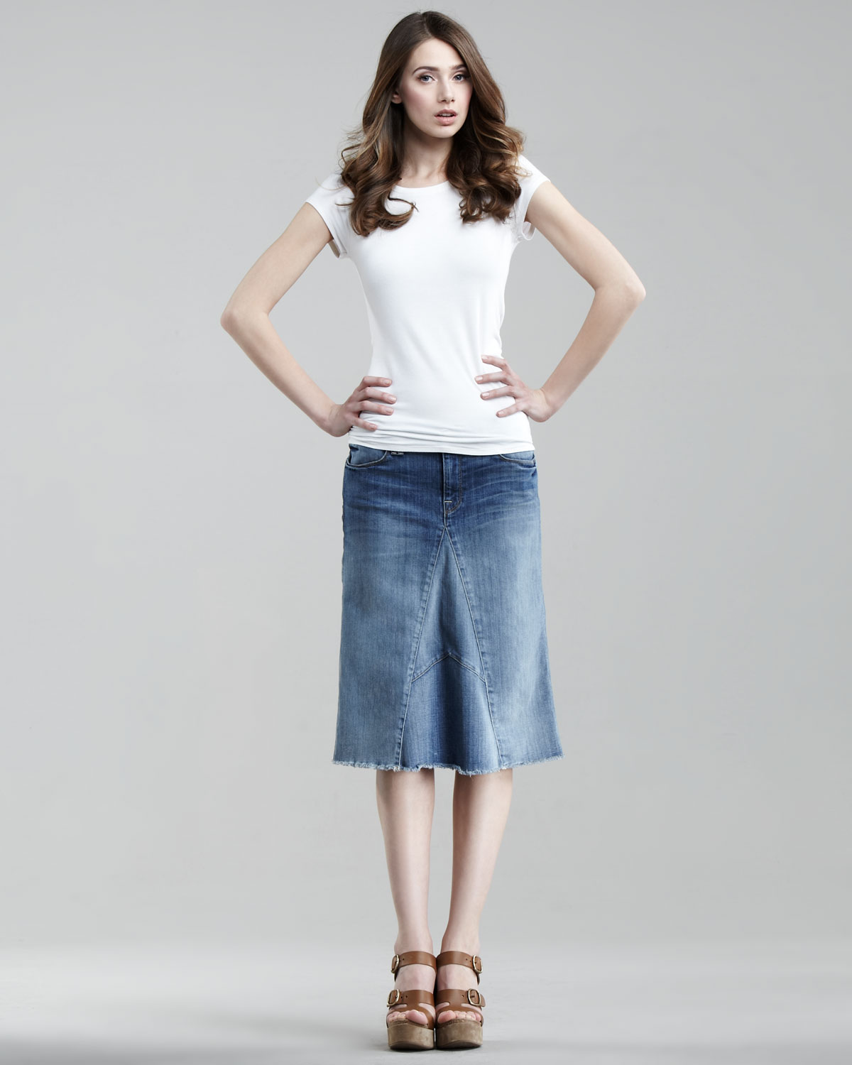 7 for all mankind Authentic Sunrise A-line Mid-length ...