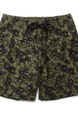 Acne Scout Printed Cotton Shorts - Lyst