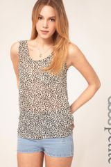 ASOS Collection Asos Petite Exclusive Pocket Front Printed Vest - Lyst