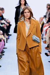 Chloé Fall 2012 Baggy Leather Midi Skirt in Brown - Lyst