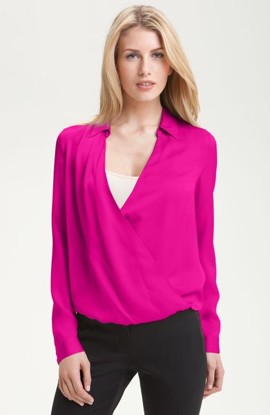 how to wear pink blouse