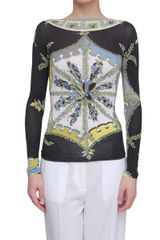 Emilio Pucci Bouquet Printed Long Sleeve T-shirt - Lyst