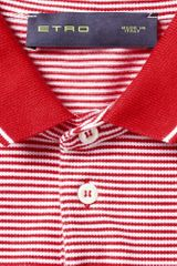 Etro Striped Cotton Polo Shirt in Red for Men - Lyst