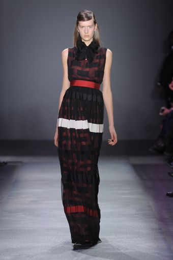 Giambattista Valli Fall 2012 Sheer Layer Graphic Print Evening Gown  - Lyst