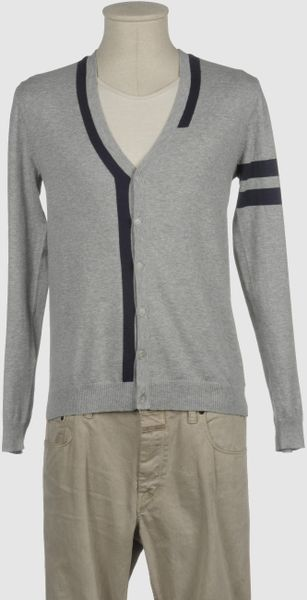 Gianfranco Ferré Gf Ferre  Cardigans in Gray for Men (blue) - Lyst
