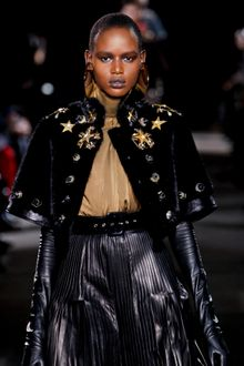 Givenchy Fall 2012 Gold Turtleneck Blouse - Lyst