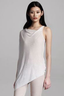 Helmut Lang Asymmetric Long Slub Top - Lyst