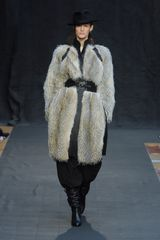 Hermes Fall 2012 Fur Embellished Leather Coat  - Lyst