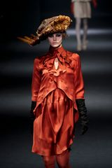 John Galliano Fall 2012 Red Draped Mini Dress - Lyst