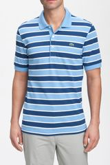 Lacoste Stripe Polo Shirt - Lyst