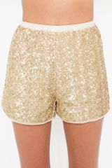 Nasty Gal Gold Dust Sequin Shorts in Gold - Lyst