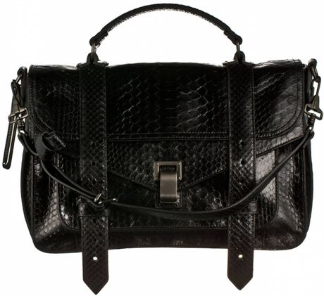 Proenza Schouler Ps1 Medium Python in Black - Lyst