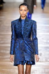 Stella McCartney Fall 2012 Blue Mini Dress In Botanical Embroidery - Lyst