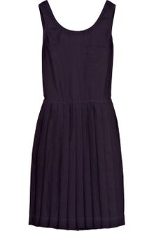 Steven Alan Pleated Twill Wrap Dress - Lyst