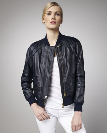Tory Burch Liesel Leather Jacket - Lyst