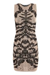 Alexander McQueen Spine-lace Jacquard-knit Dress - Lyst