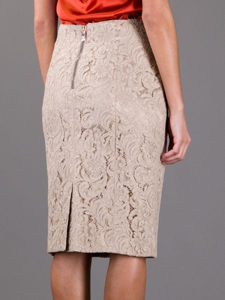 Burberry Lace Skirt In Pink Beige Lyst