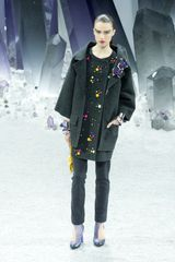 Chanel Fall 2012 Wrap-Front Stone Embellished Tunic  - Lyst
