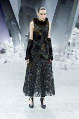 Chanel Fall 2012 Sheer Crystal Shard Print Evening Gown  - Lyst