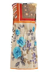 D&G Multi Scarf-print Dress - Lyst