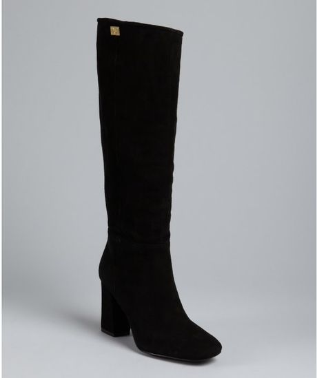 Diane Von Furstenberg Black Suede Youth Tall Boots in Black - Lyst
