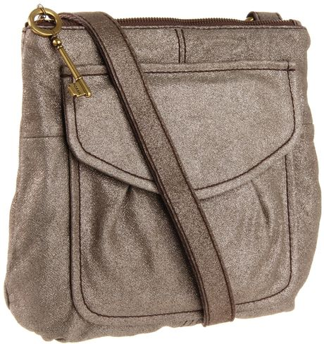 Fossil Womens Modern Cargo Cross Body in Gold (champagne) - Lyst