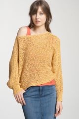 Free People Slouchy Open Knit Cropped Sweater - Lyst