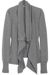 Jil Sander Draped Wool Cardigan - Lyst