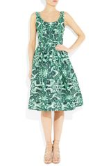 Jonathan Saunders Yvie Printed Cottonblend Twill Dress in Green (mint) - Lyst