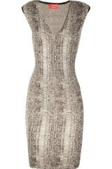 Lanvin Serpent Knitted Silk-Blend Dress - Lyst