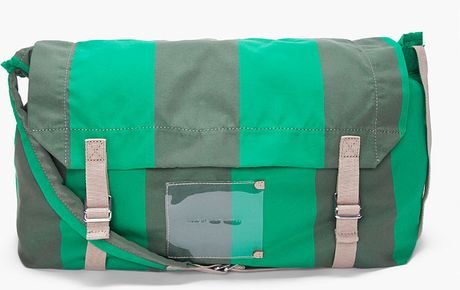 Marc By Marc Jacobs Green Striped Flasher Messenger Bag in Green for Men