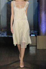 Philosophy Di Alberta Ferretti Lace and Cottontulle Dress in Beige (cream) - Lyst