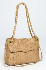 Rebecca Minkoff Swing Ostrich Embossed Shoulder Bag - Lyst