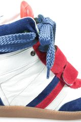 Serafini Manhattan Blue Red White Limited Edition France Velcro