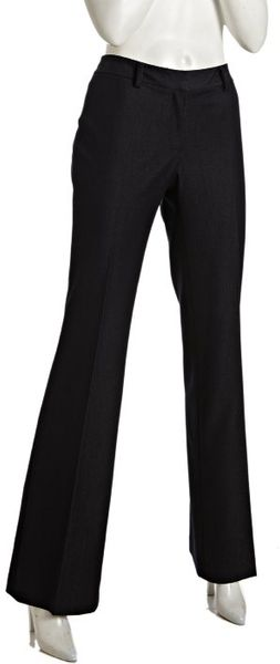 Tahari Indigo Stretch Woven Verda Flat Front Pants in Black (indigo) - Lyst