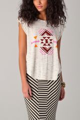 Torn By Ronny Kobo Madison Geometric Cutout Tee - Lyst