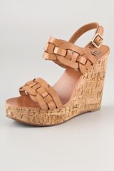 Tory Burch Calyca Wedge Sandals - Lyst