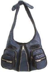 Alexander Wang Donna Hobo in Blue (nickel) - Lyst