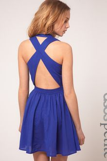 ASOS Collection Asos Petite Exclusive Cross Back Full Skirted Sun Dress - Lyst
