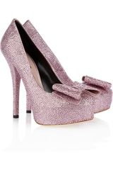 Dolce & Gabbana Crystal-embellished Satin Pumps - Lyst