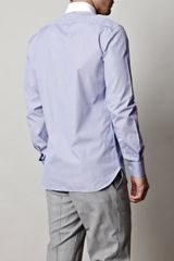 Hardy Amies Stripe Shirt in Blue for Men (navy) - Lyst