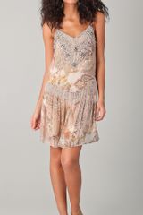 Haute Hippie Layla Beaded Mini Dress - Lyst