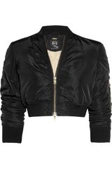 McQ by Alexander McQueen Cropped Padded Jacket - Lyst