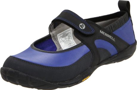 Merrell Womens Barefoot Pure Leather Glove Running Shoe in Blue