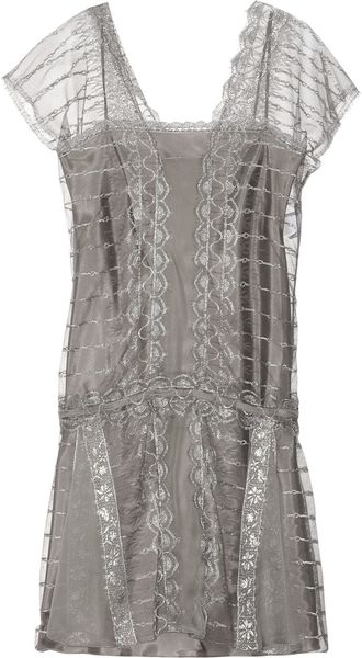 Philosophy di Alberta Ferretti Embroidered Tulle Dress - Lyst