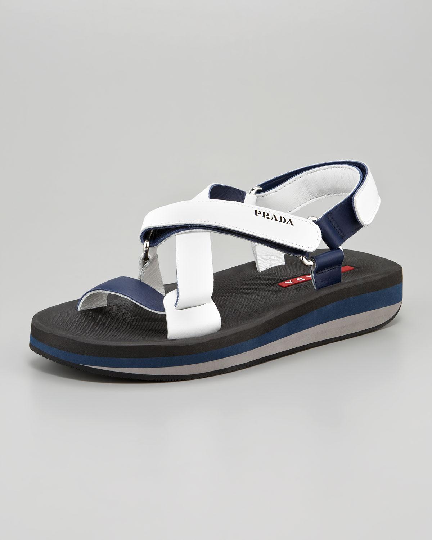 298582dd3 Lyst - Prada Strap Sandal in White for Men