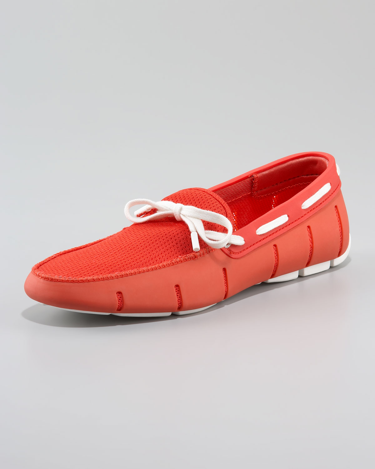 76f1327837f97 Swims Lace-up Rubber Loafer, Red/white in Red for Men - Lyst