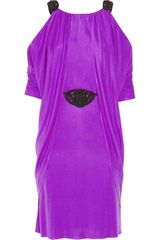 Temperley London Analia Cutout Silkjersey Cape Dress - Lyst